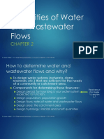 Water and Wastewater Demands(1)