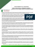 MARCO ARANA INVOCA AL PRESIDENTE VIZCARRA A PROMULGAR LA LEY DE CAMBIO CLIMÁTICO SIN OBSERVACIONES