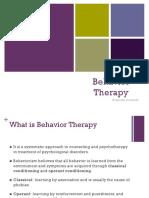 behavior therapy pp