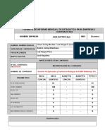 Estadística ADM OUTPRO SpA (Quintero).