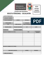 Boleta Personal