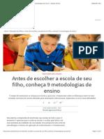 METODOLOGIAS PEDAGÓGICAS DE ENSINO
