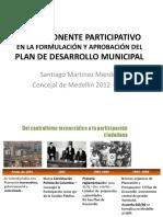 Componente Participativo Del Plan Presentacion Santy Martinez