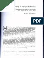 El Icc y El Cuerpo Hablante. Miller. Revista Lacaniana Nº17