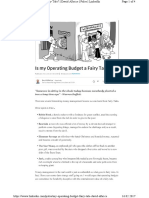 Is My Operating Budget a Fairy Tale