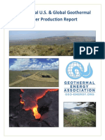 2016 Annual US Global Geothermal Power Production
