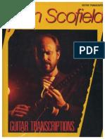 John Scofield Guitar Transcriptions 1987