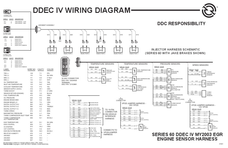 detroit wiring schematic  wiring diagram