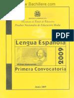 Cuadernillo Lengua Espanola - Primera Convocatoria 2009