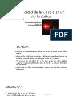 Velocidad de La Luz Roja en Un Vidrio