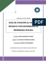 Guia de Atencion Al Paciente Neonato Con Enfermedad de Membrana Hialina.