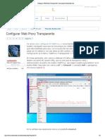 Configurar Web Proxy Transparente