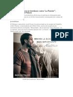 """""""'Resucitado' Será Un Bombazo Como 'La Pasión'_, Asegura Richard Peluso.  Entrevista del Filólogo y periodista Jordi Picazo"""