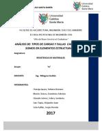 Análisis de Cargas y Fallas en Elementos Estructurales