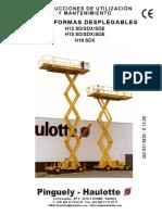 Manual - Operador  Español - Haulotte h18 Sdx