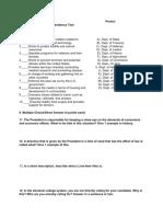 presidency test pdf