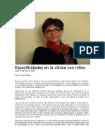 Alba Flesler. Especificidades en La Clínica Con Niños.doc