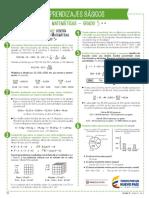 Aprendizajes básicos de matemáticas -  Grado 5°