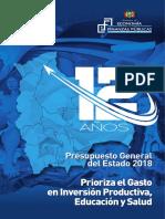 Separata PGE 2018.Presupuesto2018