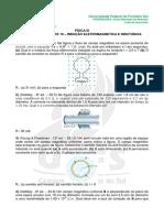 Lista 10 - Indução Eletromagmética; Indutância