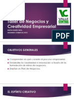 Taller de Negocios y Creatividad Empresarial II