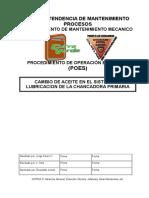 POE Cambio de aceite en el sistema de lubricacion de la chancadora Primaria.doc