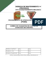 POE Cambio de Chaquetas en Chutes de Chancado Secundario