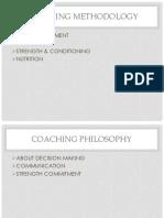 Coaching Methodology