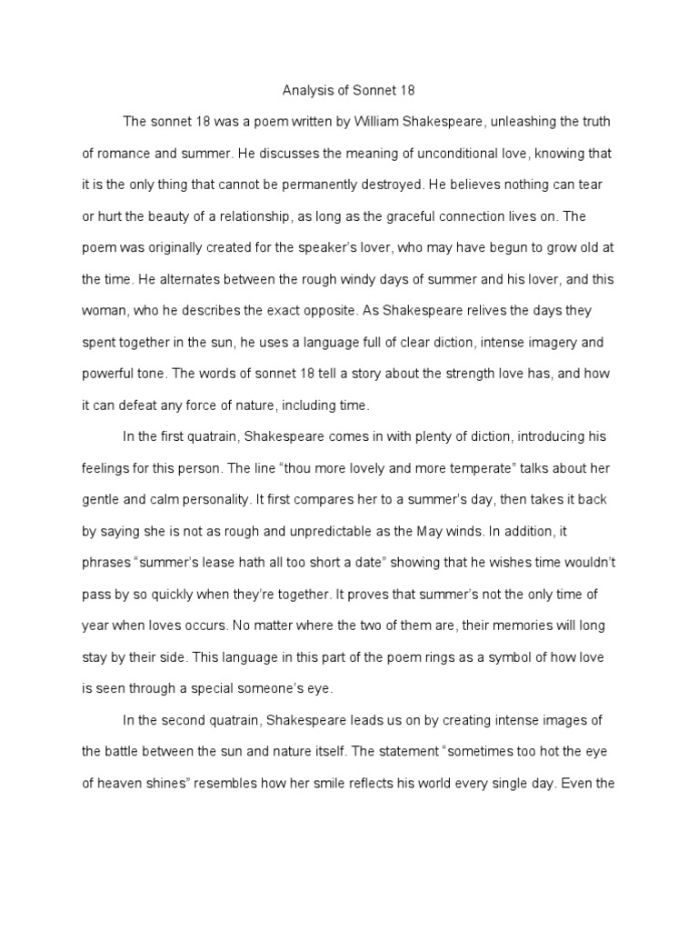 essay on sonnet 18 1492598912 good thesis statement examples for ...