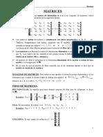 Matrices y Determinantes Unab 2016