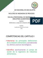 Capitulo I.- Definiciones y Campo de La Industrias Alimentaria