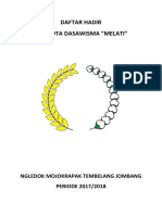 Daftar Hadir Dasawisma