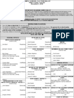 Sample Ballot for the 2010 General Election