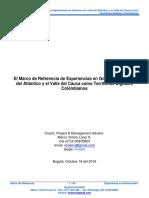 MVLS - El Marco de Referencia de Experiencias en Gobierno en Línea Del Atlántico y El Valle Del Cauca Como Territorios Digitales Colombianos - IGOB 3.1 - VOct2016
