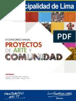 II Concurso Anual de Proyectos de Arte y Comunidad