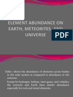 Lesson 2 Universe and the Solar System (ELEMENT ABUNDANCE ON EARTH, METEORITES, AND UNIVERSE )