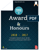 Awards and Honours in 2018 eBook SSBCrack