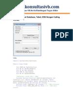 Membuat Database Tabel Dsn Dengan Coding Vbnet