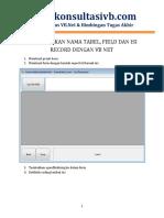 Menampilkan Tabel Field Dan Record Dengan Vb Net