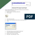 Membuat Laporan Berbentuk PDF Crystal Report