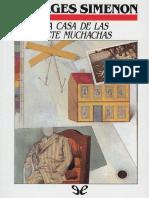 La Casa de Las Siete Muchachas - Georges Simenon