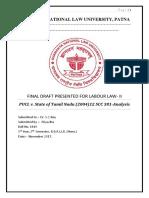 Labour Law 2 Project