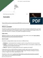 ADF - Drug Facts - Cannabis, Weed, Marijuana