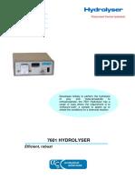 Hydrolyser Datasheet