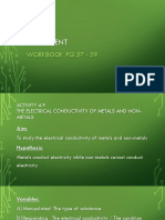 Experiment - The electrical conductivity and Heat Conductivity Metal and Non-metal