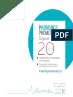 Le rapport annuel 2018 de Provence  Promotion