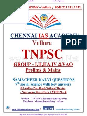 Padasalai Net 7th Social Tnpsc Group 4 Study Material