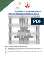 Delhi State Chess Calender Updated New
