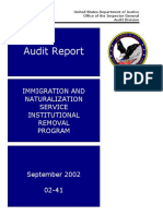 2002 - Ins Oig Institutional Removal Program