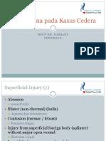 Ppt Tatalaksana Pada Kasus Cedera